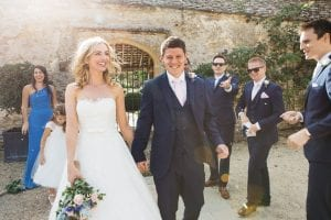 An outdoor ceremony at Caswell House