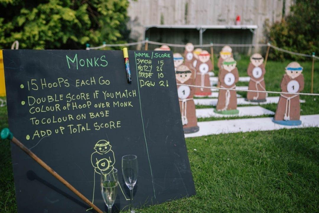 garden games at a wedding