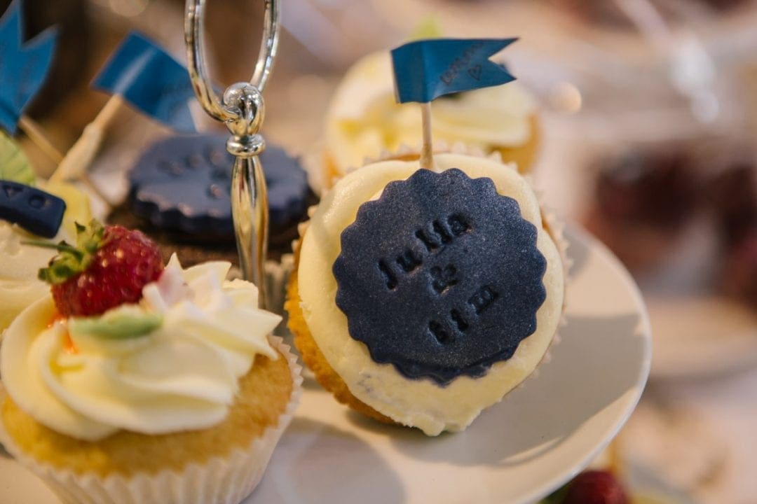 Handmade cakes at an Oxfordshire wedding