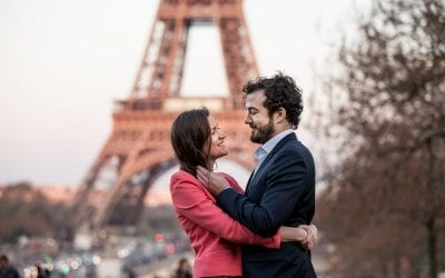 Claire and Olivier's Romantic Parisian Engagement Shoot