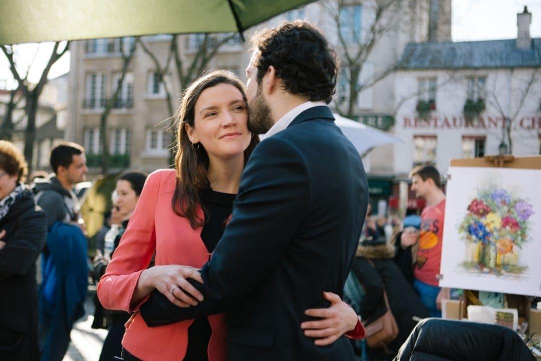Engagement photoshoot in in Montmartre, Paris