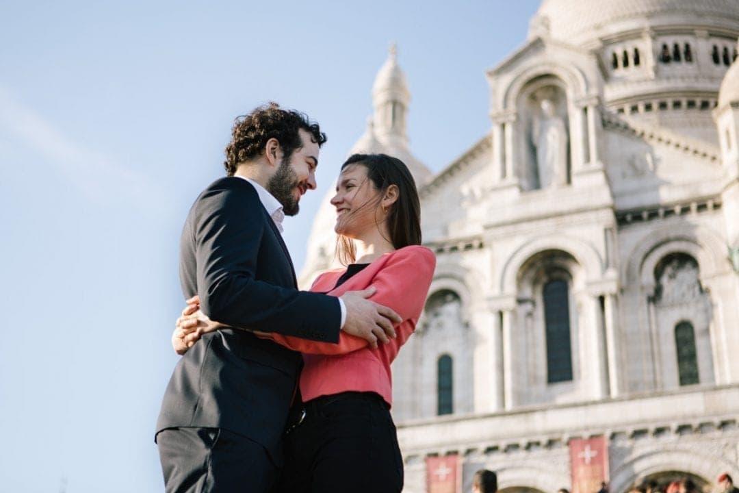 Engagment photoshoot at Sacre Coeur, Paris