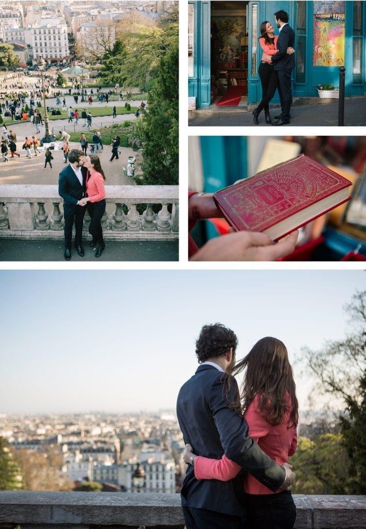 Engagement photography in Montmartre, Paris
