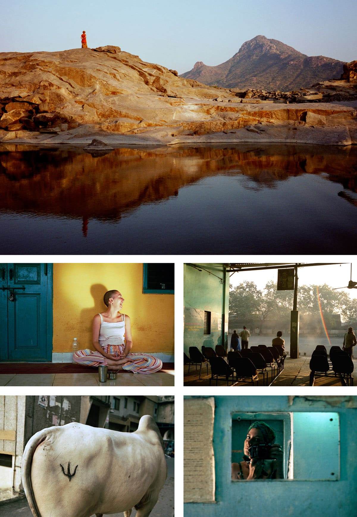 Collage of personal travel photographs in India.