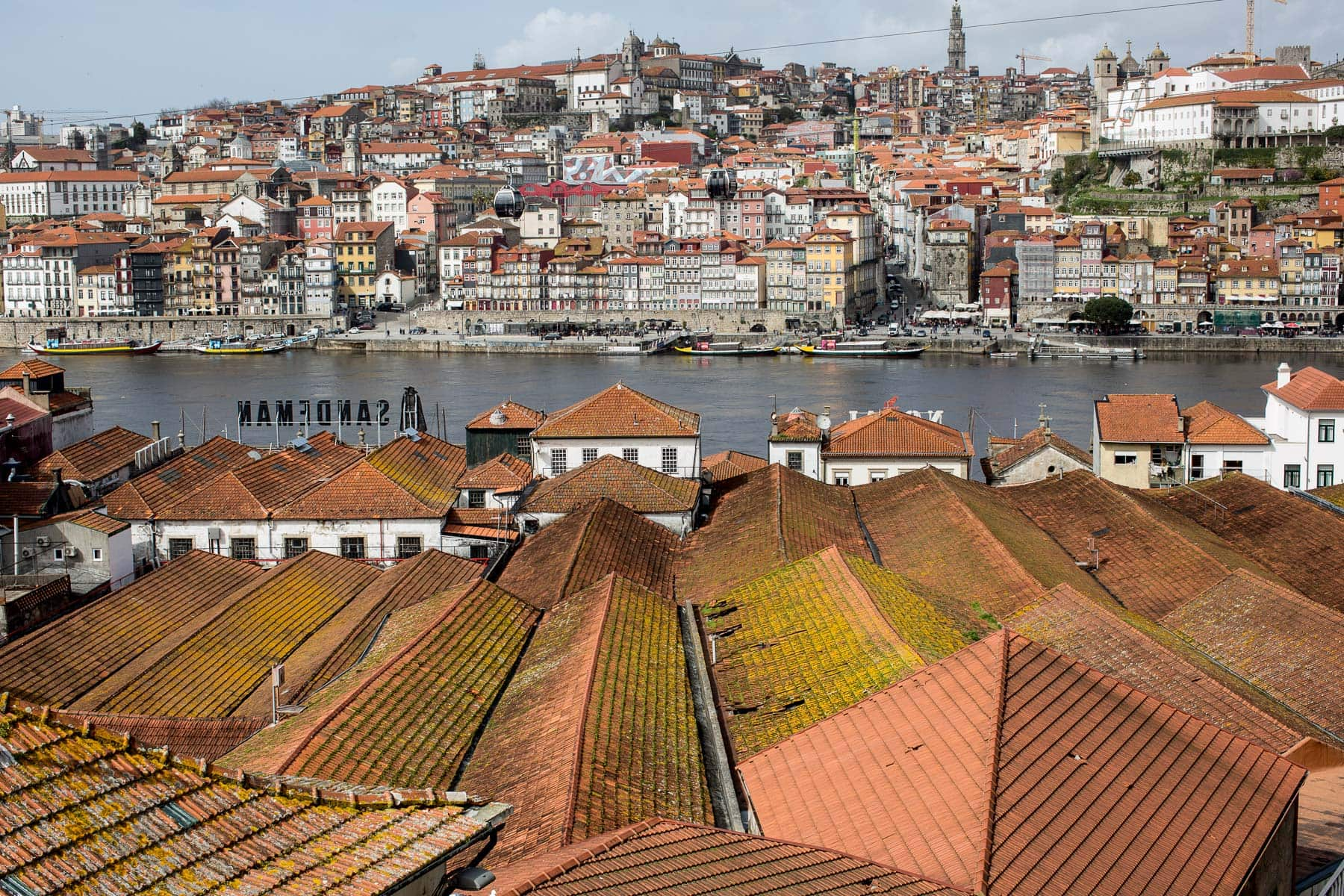 View over the rooftops in Porto, Portugal.