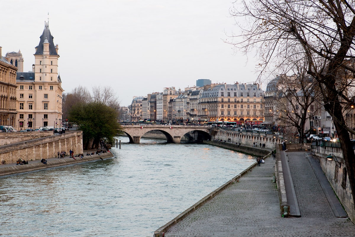 View of Paris looking out over the Seine