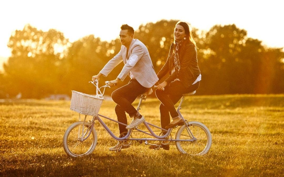 A Pre-Wedding Shoot on a Tandem Bicycle