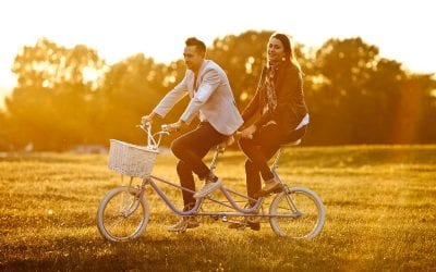 Rachel and Timm's Pre-Wedding Shoot on a Tandem Bicycle