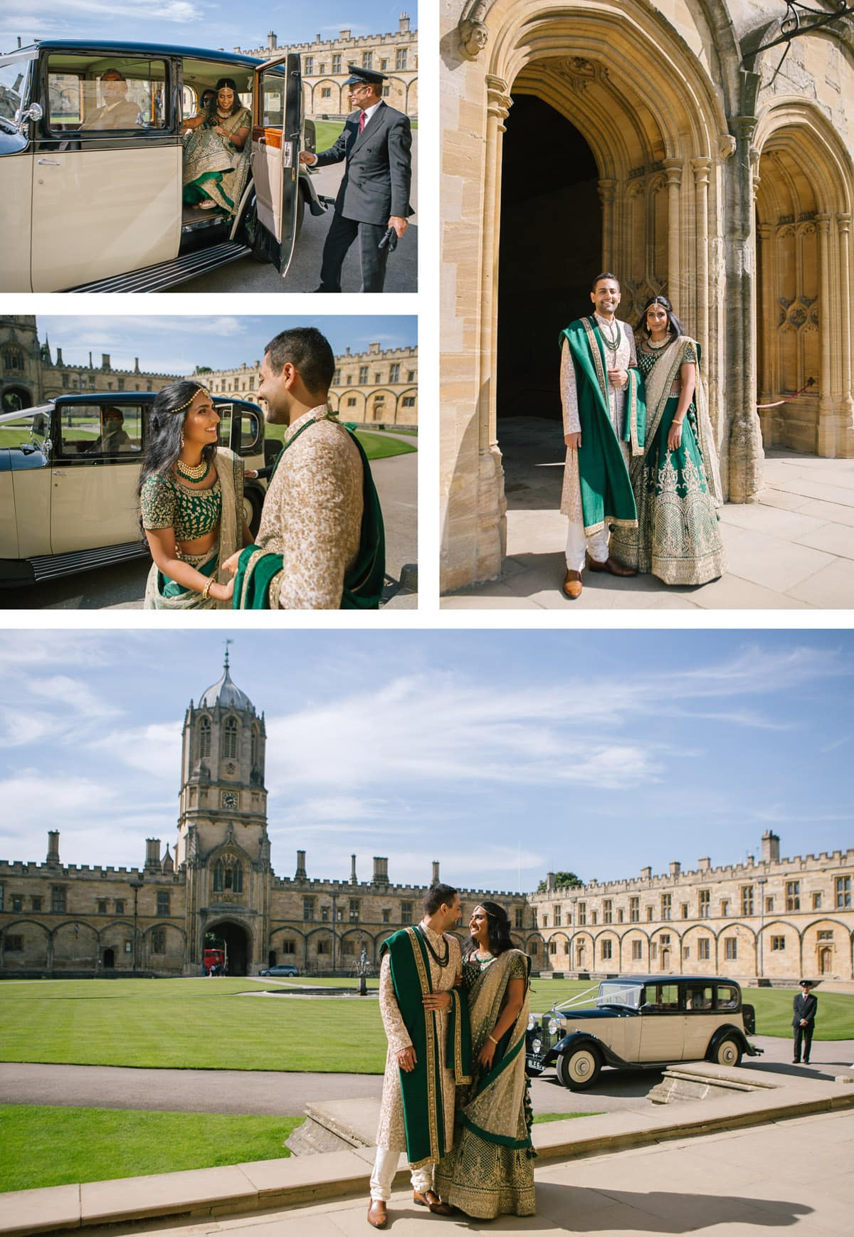 Collage of images from Indian wedding at Christchurch College