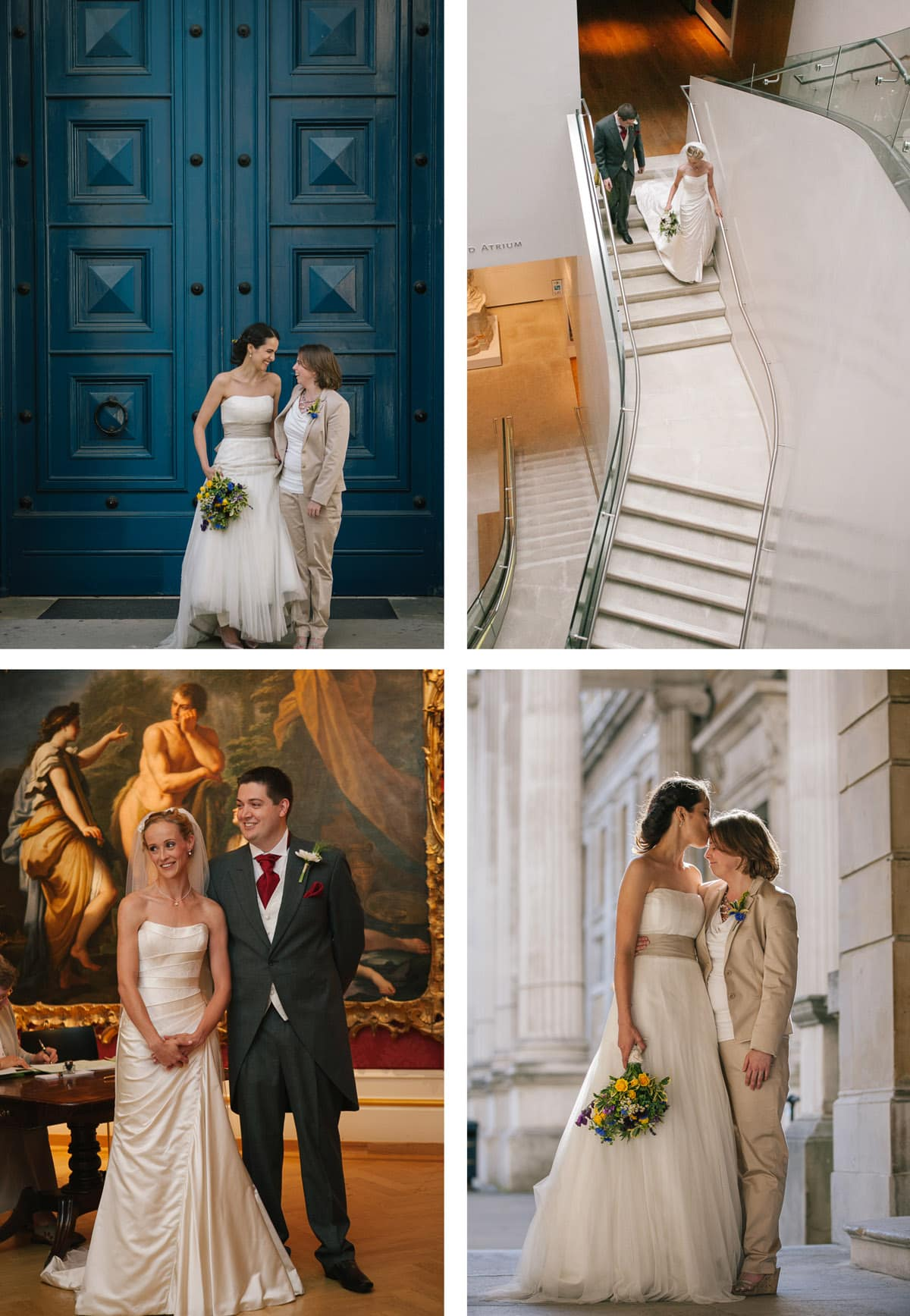 Collage of images of weddings at The Ashmolean Museum