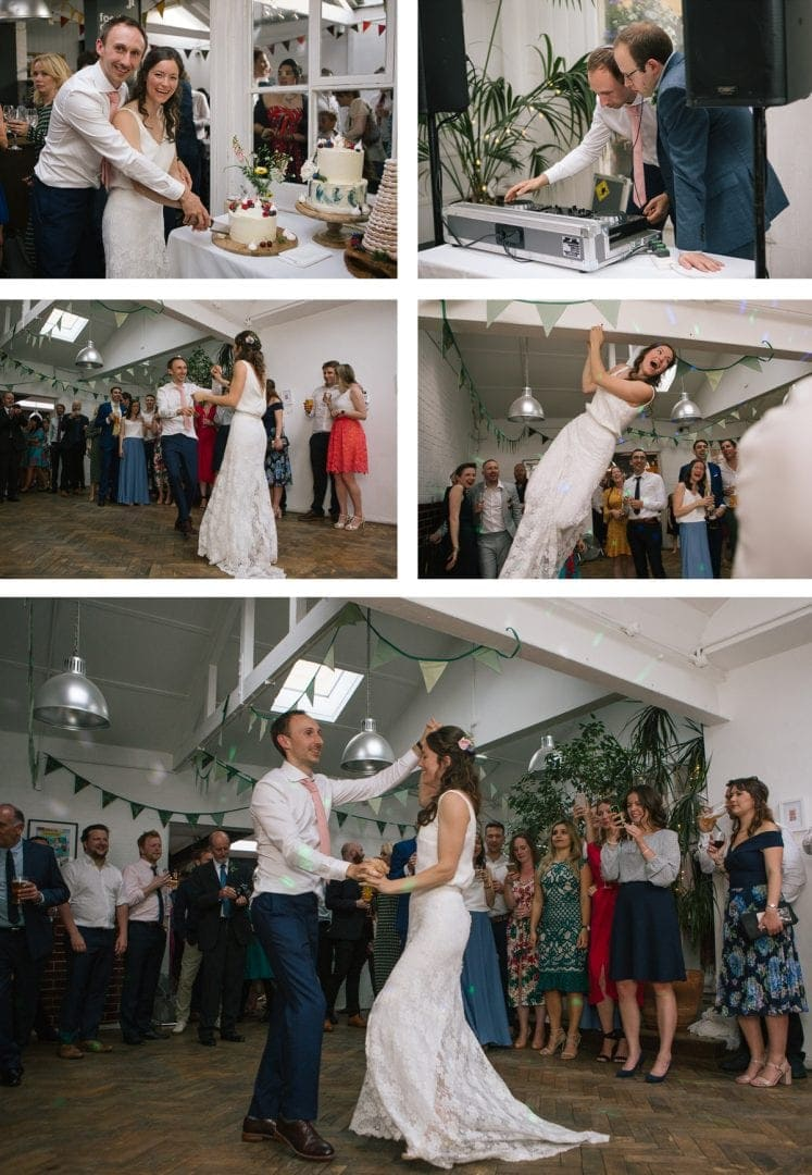Bride and grooms first dance at the Jam Factory Oxford