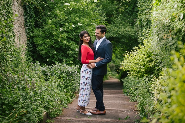 Engagement photography at Blenheim Palace